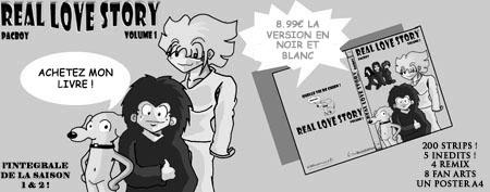 Le livre Real Love Story Vol01 Noir et Blanc